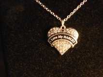 I LOVE MY HARLEY crystal heart necklace new in Barstow, California
