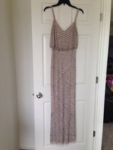 Adrianna papell beaded evening dress great for New Years Eve!  nwot retails 260$ Sz 4 in Oswego, New York
