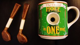"Golfers ""official"" Hole in One Coffee Mug and Club stirers in Naperville, Illinois"