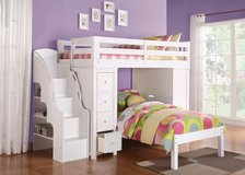 Olivia's White Twin Loft Bed Collection in San Clemente, California