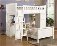 Daisy's White Twin Loft Bed Collection in San Clemente, California
