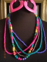 Five Strand Colourful Necklace & Earring Set in Barstow, California