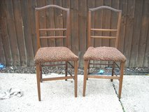 Pair of Mahogany inlayed bedroom chairs n in Lakenheath, UK