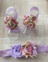Lavender floral sandal and headband set in Vista, California