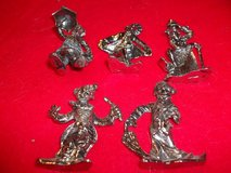 PEWTER CLOWNS 5 TOTAL FROM THE 1960'S in Perry, Georgia