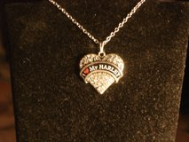 I LOVE MY HARLEY crystal necklace new in Barstow, California
