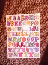3 pages of sticker letters in Naperville, Illinois