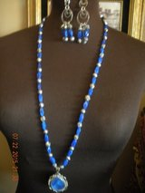 Blue Lapis Pendant and Earring Set in Barstow, California