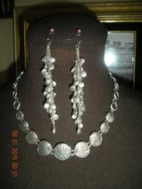 Seashell Silvertone Necklace and Earrings in Barstow, California