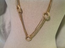"Gold Tone Chain Circle 38"" Necklace Geometric Vintage Multi Strand in Kingwood, Texas"