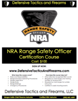 NRA Range Safety Officer Course in Camp Pendleton, California