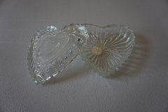 Glass Heart Jewelry/Candy Dish in Chicago, Illinois