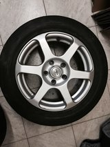 Four alloy wheels and tires 225/50r16 in Hohenfels, Germany
