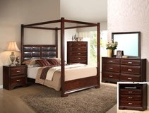 NEW CANOPY KING BED SET ONLY in San Bernardino, California