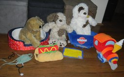 Build A Bear Puppy Dog Lot + Bed / Train & Accessories / 3 Dogs BABW in Houston, Texas