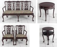 A SET OF 5 MAHOGANY , Chippendale at 1900 in Ramstein, Germany