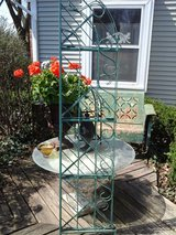Green metal corner shelf or bakers rack in Westmont, Illinois