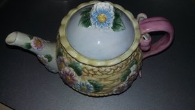 Capodimonte Porcelain Floral Basket Teapot in Vacaville, California