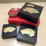 Japanese 3 nesting Jyu Bako Box with 5 serving trays in Okinawa, Japan