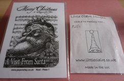 2 Santa Rubber Stamps Code 60 in Lakenheath, UK