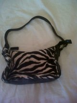 Fake fur Zebra bag in Lakenheath, UK