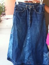 DENIM MAXI SKIRT in 29 Palms, California