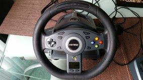 XBOX 360 Racing Steering Wheel Controller with Pedals in Tampa, Florida