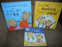 3 Charlie & Lola Book Lot Lauren Child Books School / Go to Bed / Bigger Than You in Houston, Texas