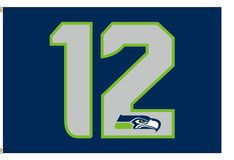 *** 12TH MAN 3'x5' FLAG / BANNER  *** (Different Designs available)*** NEW in Fort Lewis, Washington