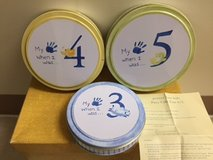 Pottery barn  Patty cake tins for kids hand print set of 3 in Okinawa, Japan