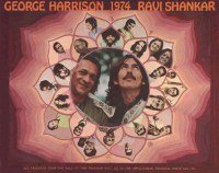 RARE GEORGE HARRISON & RAVI SHANKAR 1974 TOUR PROGRAM in Joliet, Illinois