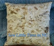 USMC MARPAT Desert Uniform Pillow or Pillow Cover in Camp Lejeune, North Carolina