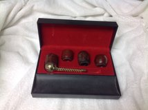 Kentucky Club Product Wood Pipe Set Interchangeable Bowls Wood Gold Black Case in Houston, Texas