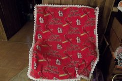 STL Cardinals Baseball Fleece Baby Blanket in Belleville, Illinois