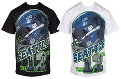 "*** SEATTLE SEAHAWKS ""12th MAN"" Limited design T-Shirt (White XL) *** NEW *** in Fort Lewis, Washington"