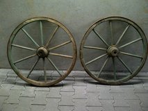 Antique German Wood Wagon Wheels (Large) in Stuttgart, GE