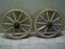 Antique German Wood Wagon Wheels (Small) in Stuttgart, GE