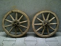 Antique German Wood Wagon Wheels (Extra Small) in Stuttgart, GE