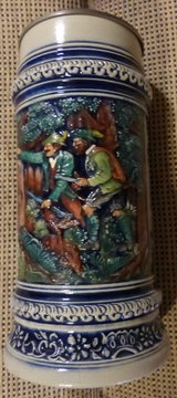 RARE Large Vintage Hunter Stoneware Stein with Dragons in Stuttgart, GE