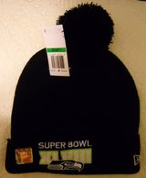 *** SEATTLE SEAHAWKS XLVIII (NEW ERA) Knit Beanie Hat w/ Pom (NEW) *** in Fort Lewis, Washington