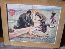 Large Keen Kutter Picture Poster Advertising an Axe. in Fort Leonard Wood, Missouri