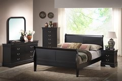 Military Discount! Solid Wood Queen Bed with a Matching Nightstand in Fairfax, Virginia