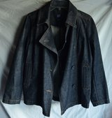 GAP Women's Denim Jacket/blazer/coat / Peacoat, Size M in Bolingbrook, Illinois