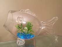Glass Fish Shaped Fish Bowl in Bolingbrook, Illinois