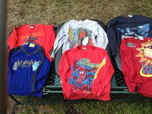 6/7  boys long sleeve shirt lot  Spider-Man's,monsters inc, batman , imcredibles . in Camp Lejeune, North Carolina