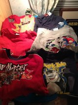 Size 6/7 boys lot care, justice league , share tales, incredibles, in Camp Lejeune, North Carolina