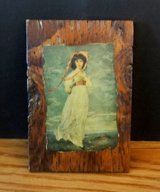 Vintage Pinkie Wooden Plaque – Replica of Portrait by Thomas Lawrence in Chicago, Illinois