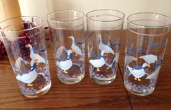 Set of 4 Adorable Geese / Duck Drinking Glasses in Chicago, Illinois