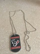 Texans necklace in Fort Carson, Colorado