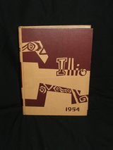 University of Illinois Yearbook 1954 The Illio in Glendale Heights, Illinois